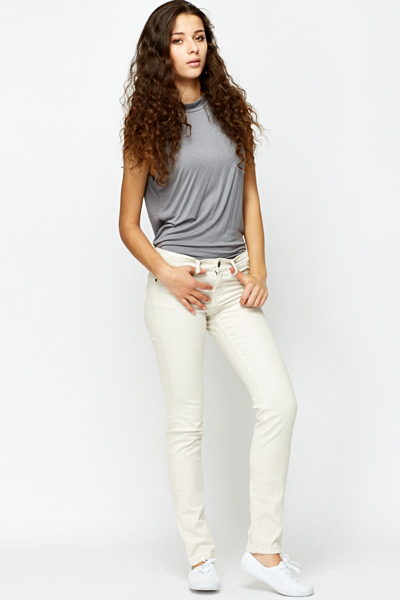 Skinny Off White Jeans
