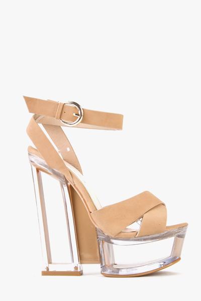 Block Heel Perspex Sandals