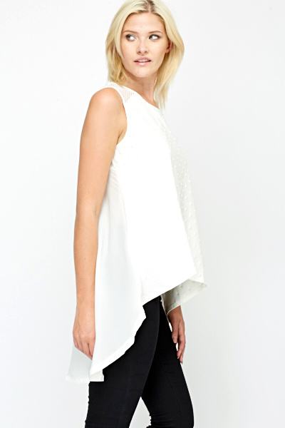 Oversized Mesh Trim Top