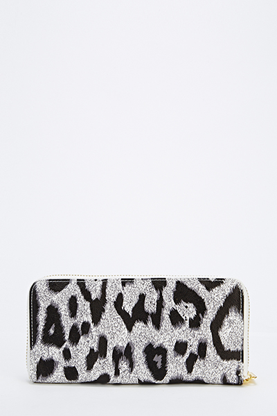 Animal Print Contrast Purse