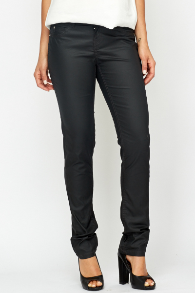 Charcoal Straight Leg Trousers