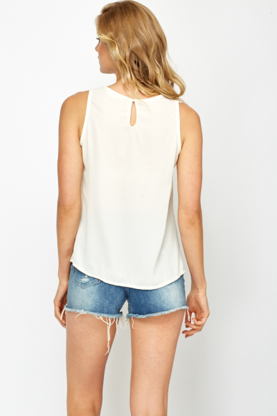 Large Bow Front Shell Top