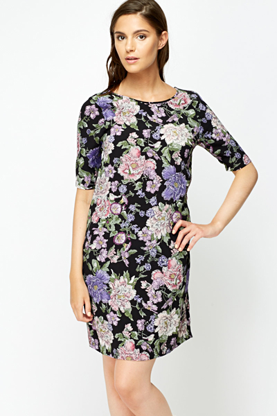 8d1bd267aebb Floral Shift Dress - Just £5