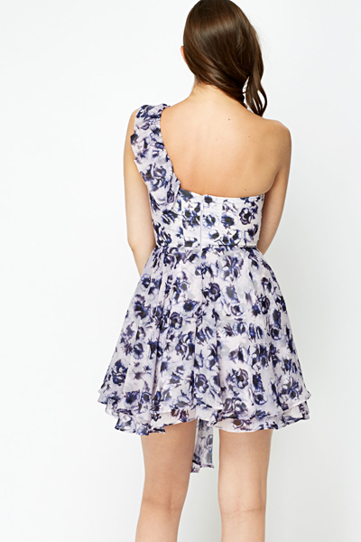 Frilled One Shoulder Dress