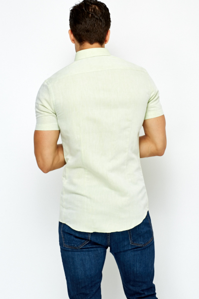 Middle Green Short Sleeve Shirt