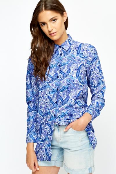 48caf67df Multi Paisley Print Long Shirt - Just £5