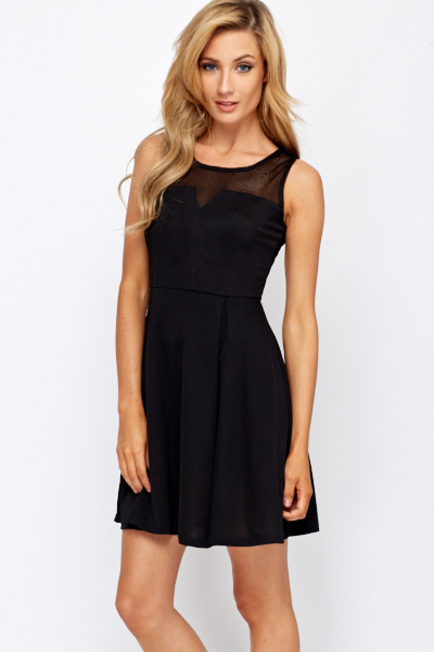 15f69ecbb1 Cut Out Top Pleated Skater Dress - Just £5