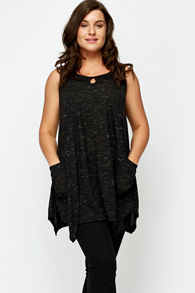 Speckled Open Pocket Tunic