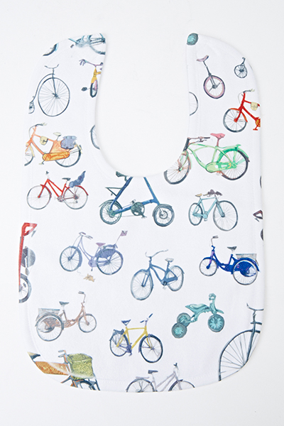 Bicycles Print Bib