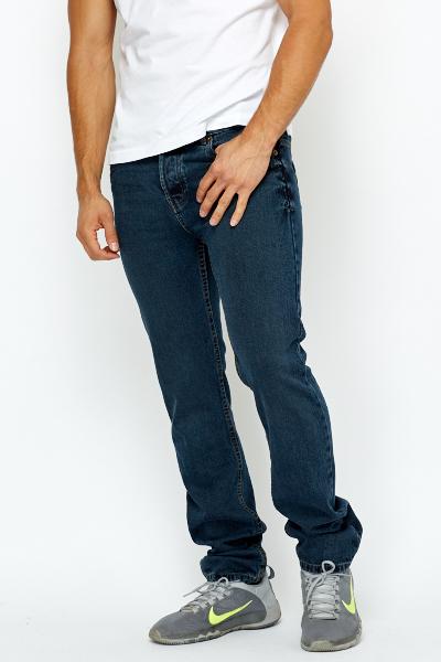 Slim Leg Denim Blue Jeans - Just £5