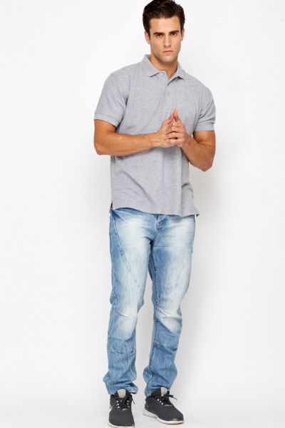 Denim Light Blue Wash Out Jeans