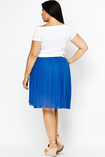 royal blue pleated skirt just 163 5