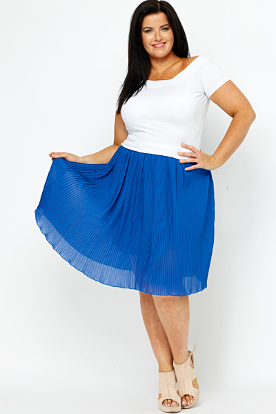 royal blue pleated skirt just 163 5