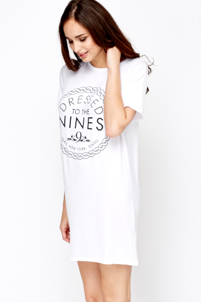 Dressed To The Nines T-Shirt Dress