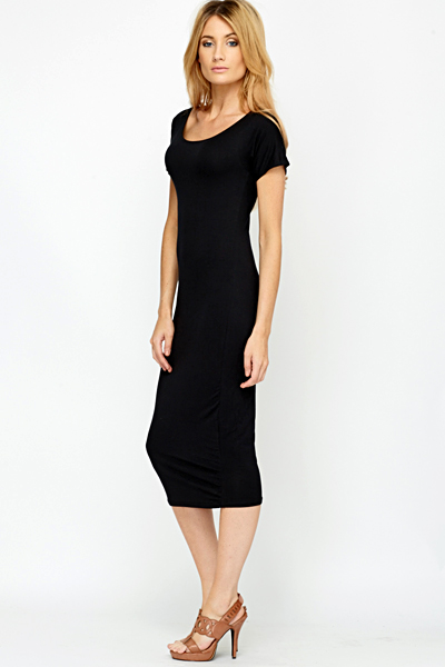 Midi Bodycon Black Dress