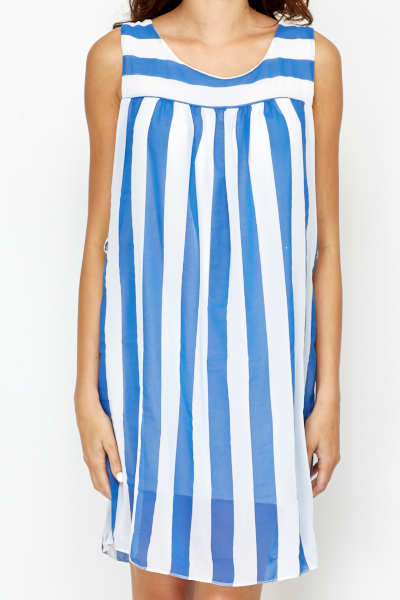 Striped Pleated Tunic