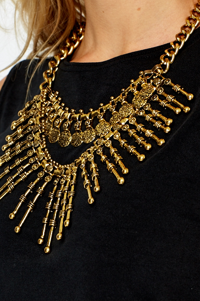 Gold Chunky Spike Necklace