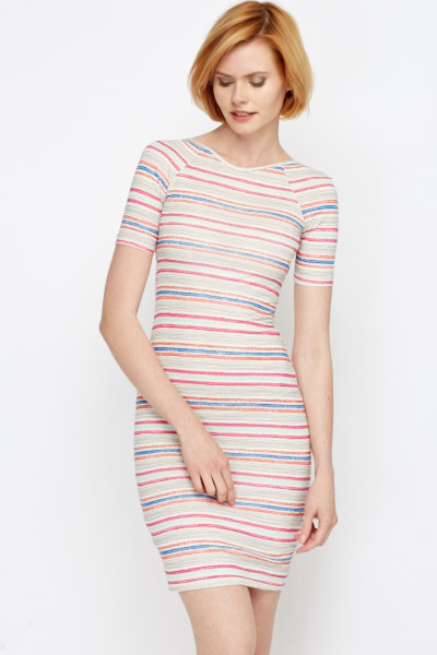 Summer Cotton Striped Midi Dress