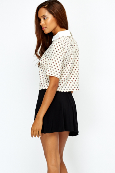 Peterpan Collar Crop Top