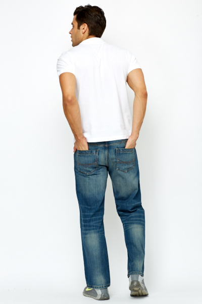 Loose Fit Denim Blue Jeans