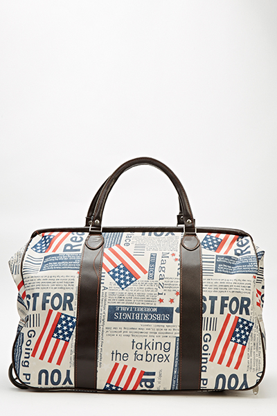 Flag Print Travel Bag