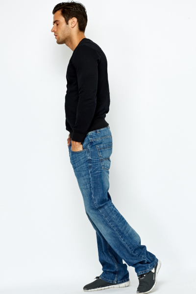 Bleach Wash Bootcut Jeans