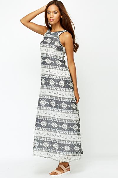 Fairisle Maxi Dress (SIZE 6)