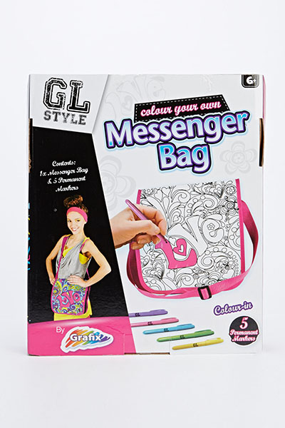 Colour Your Own Messenger Bag Set
