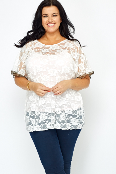 Lace Overlay Top