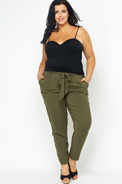 Olive Tapered Trousers