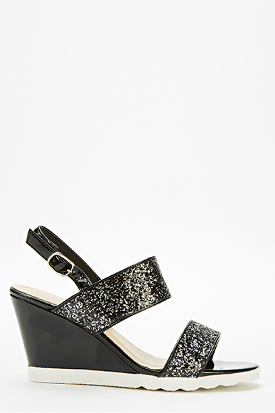 bc46353a49e6 Glitter Strap Wedge Sandals - Just £5