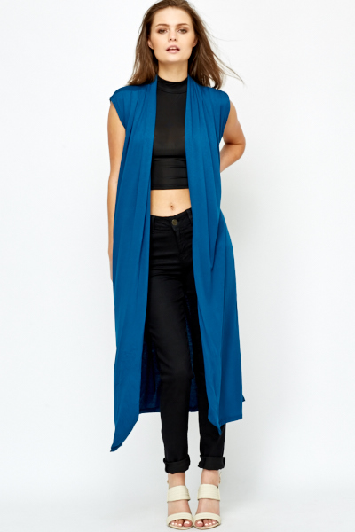 Open Front Long Line Cardigan