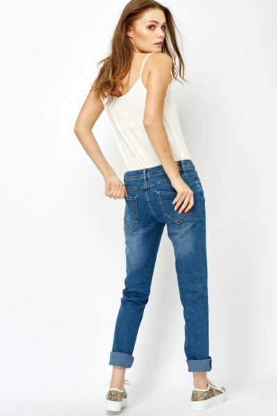 Blue Straight Fit Jeans