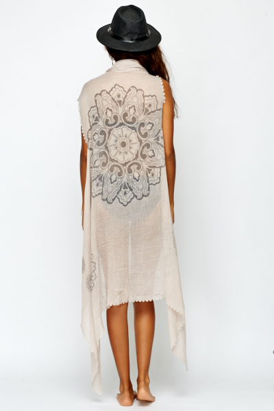 Light Brown Beach Cover Up