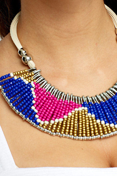 Beaded Collar Aztec Necklace