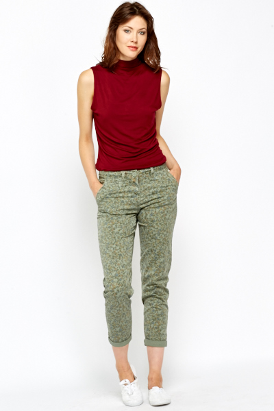 Camouflage Splash Print Trousers