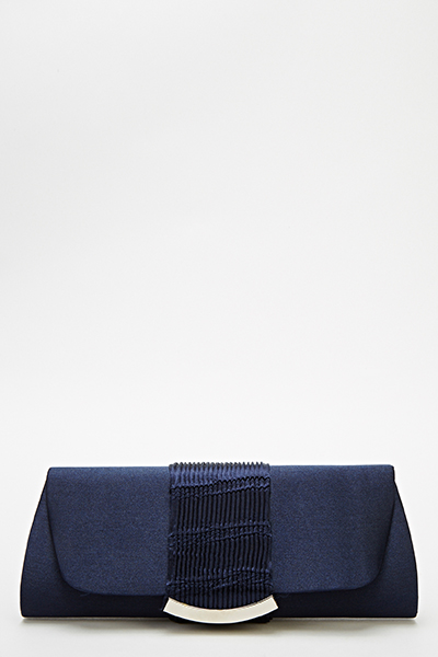 Evening Pleated Panel Clutch Bag
