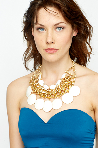 White Disc Chunky Necklace