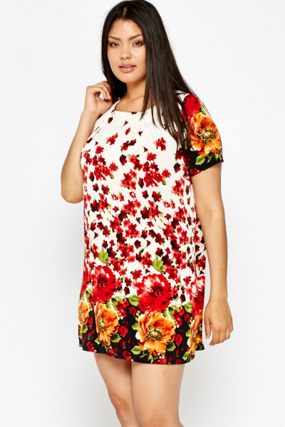 Floral Mini Shift Dress