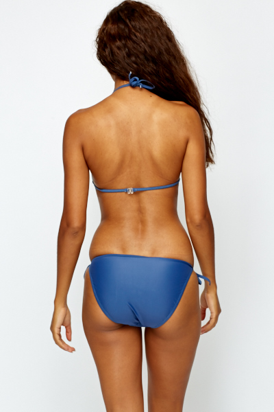 Medium Blue Halterneck Bikini Set