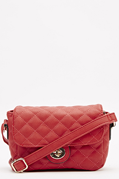 Red Quilted Crossbody Bag