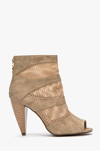 Cone Heel Open Toe Ankle Boots - Just £5 625124c7d166