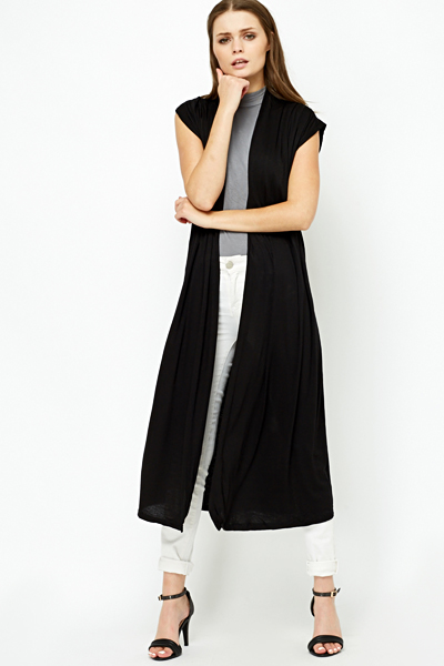 18236d6026a Long Line Black Cardigan