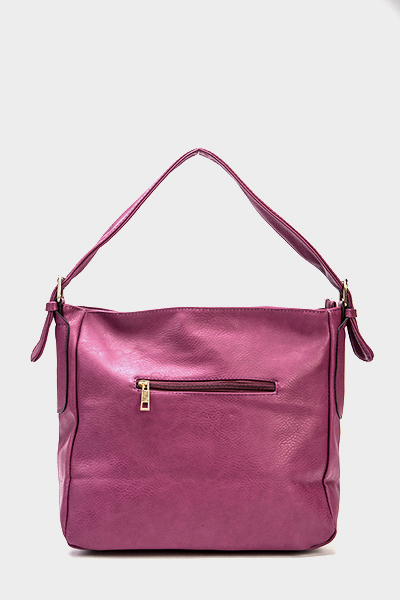 Purple Bow Detail Handbag