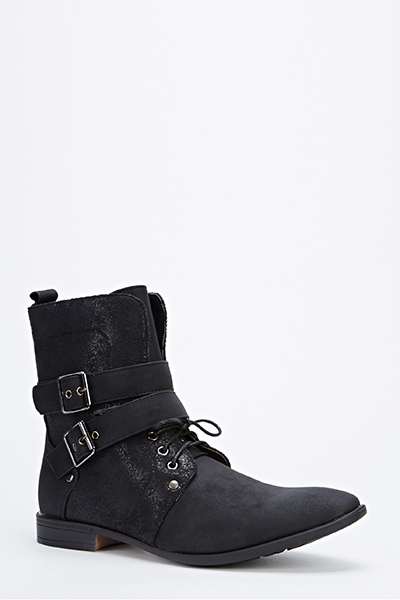 Contrast Pointed Toe Boots