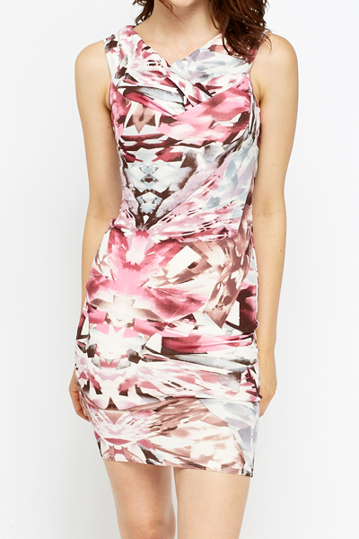 Geo Multi Bodycon Dress
