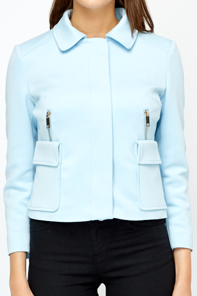 Light Blue Scuba Jacket