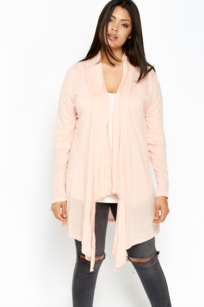 Light Pink Waterfall Cardigan - Just £5