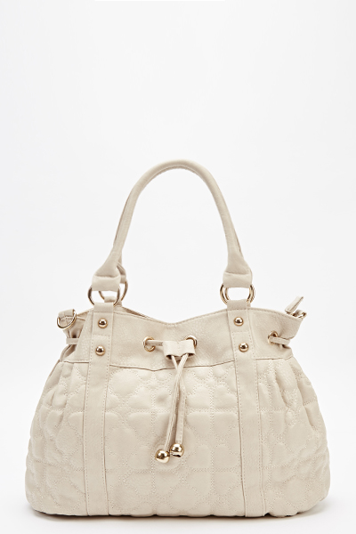 Heart Quilted Bucket Bag