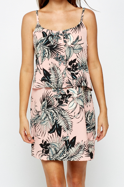 Wild Floral Overlay Dress